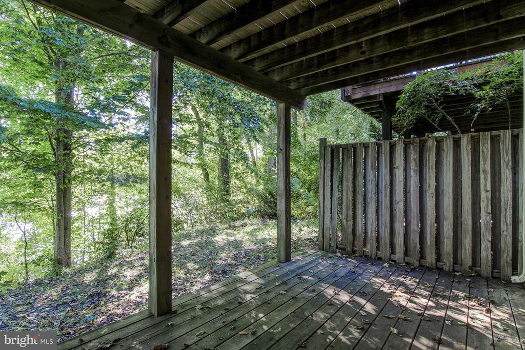 Patio with Summer View - 15757 WIDEWATER DR, DUMFRIES