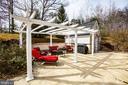 Pergola has retractable Sunbrella shades - 10408 LAUREL RIDGE WAY, FREDERICKSBURG