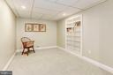 The lower level den/hobby room/office. - 11726 WINTERWAY LN, FAIRFAX STATION
