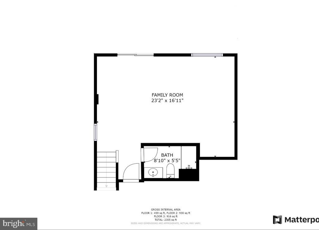 Lower level floor plan - 48 SURVEYORS WAY, STAFFORD