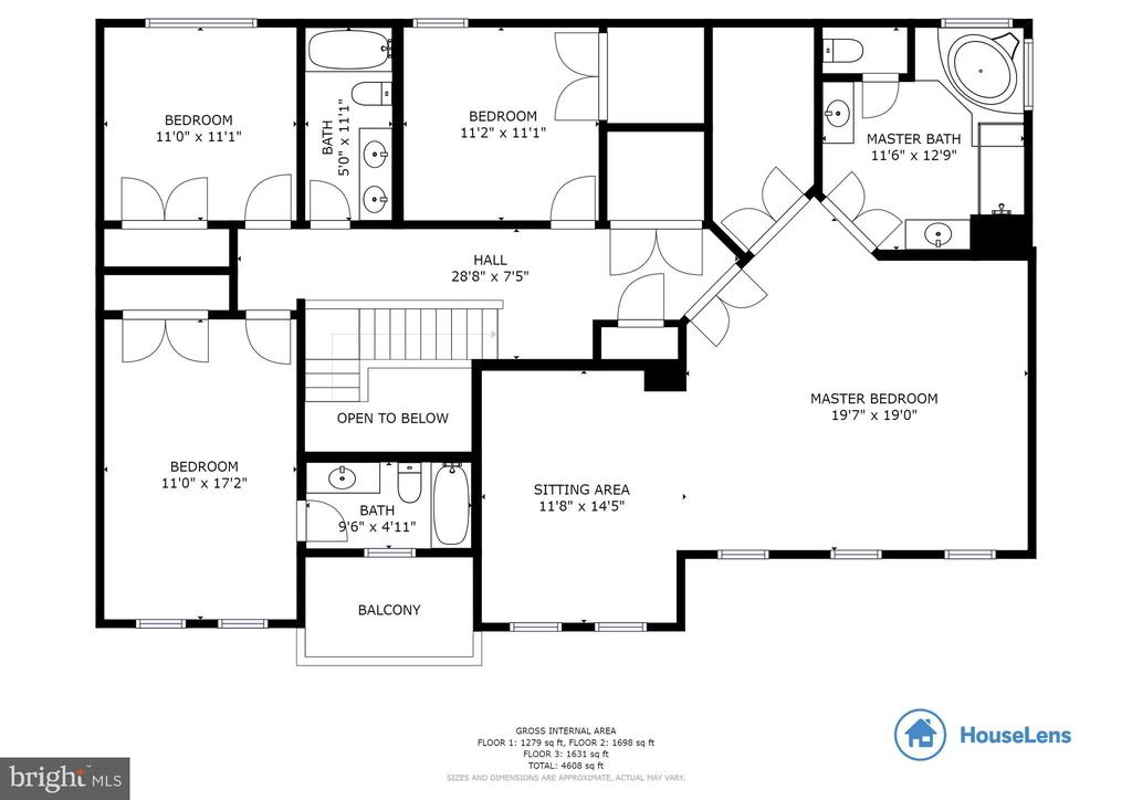 Upper Level Floorplan - 18751 PIER TRAIL DR, TRIANGLE
