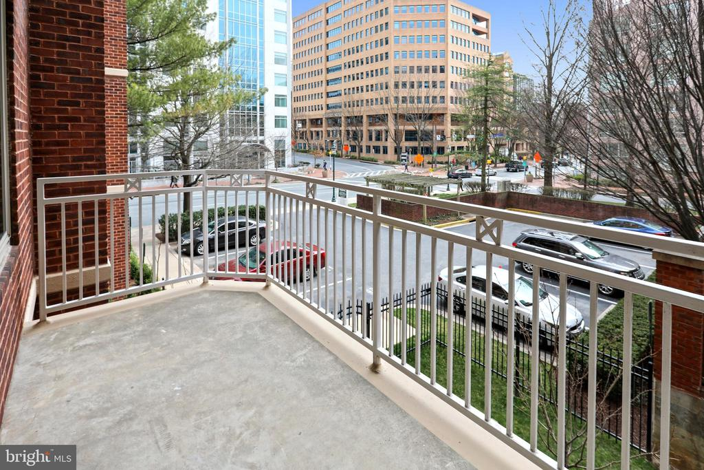 Large Balcony - 7500 WOODMONT AVE #S205, BETHESDA