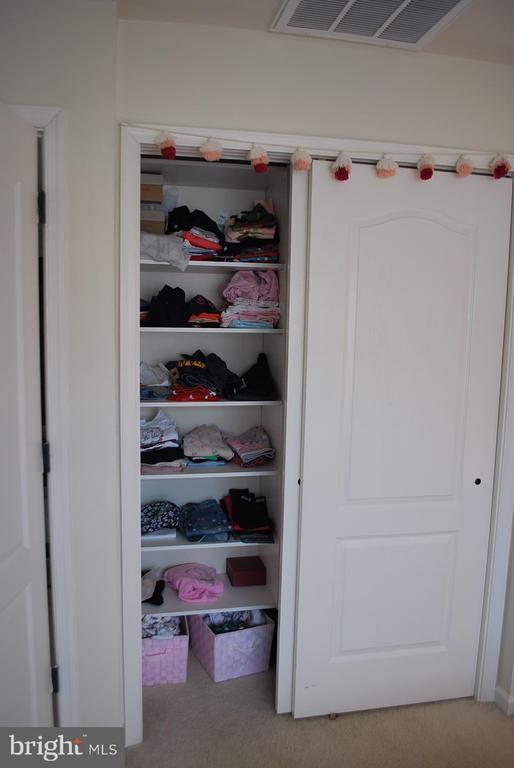 Bedroom 3 custom  closets - 108 E. STATION TER., MARTINSBURG
