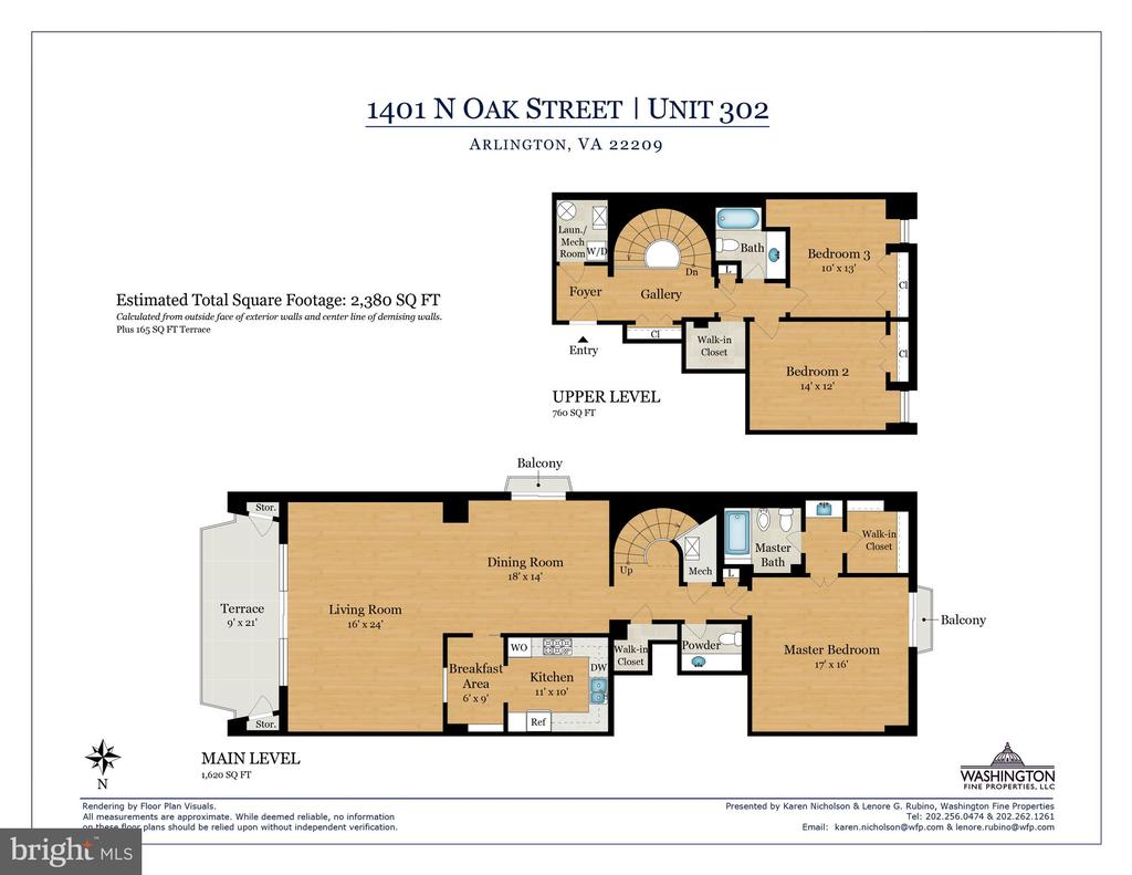 2380 sq ft of living space - 1401 N OAK ST #302, ARLINGTON