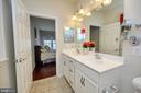 Master Bath has dual sinks, ceramic floors. - 29 LUDINGTON LN, FREDERICKSBURG