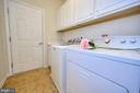 Laundry Room with cabinets, utility sink. - 29 LUDINGTON LN, FREDERICKSBURG