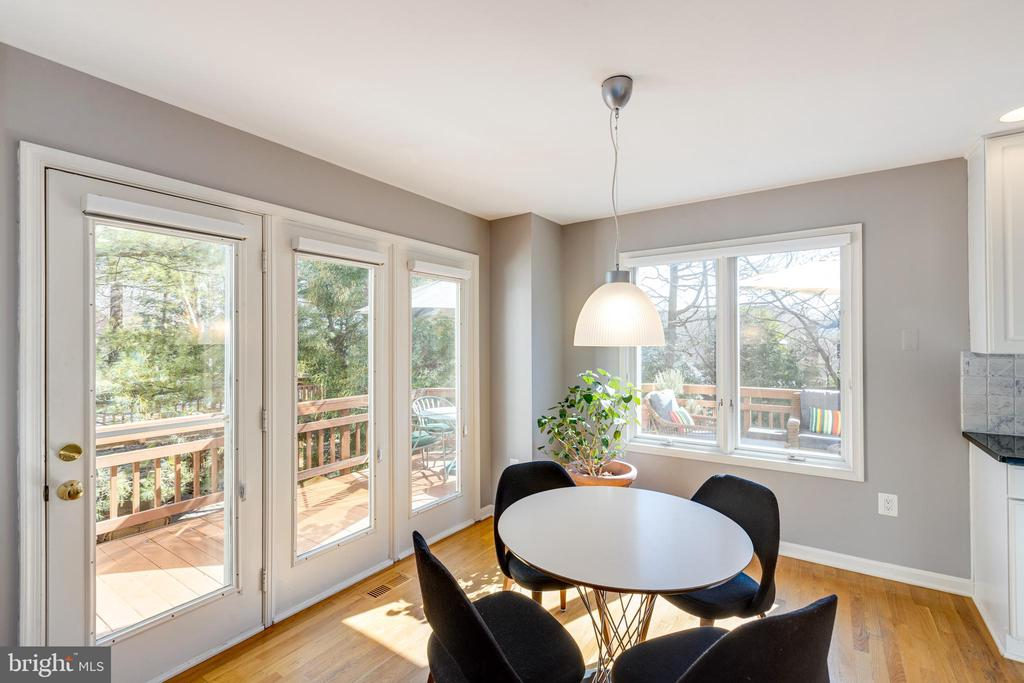 Incredibly private view from eat-in space - 11205 PAVILION CLUB CT, RESTON