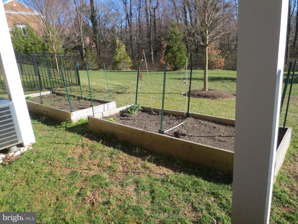 Two raised vegetable gardens - 10623 LEGACY LN, FAIRFAX