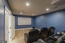 Large theater room - movie system conveys - 17013 SILVER ARROW DR, DUMFRIES