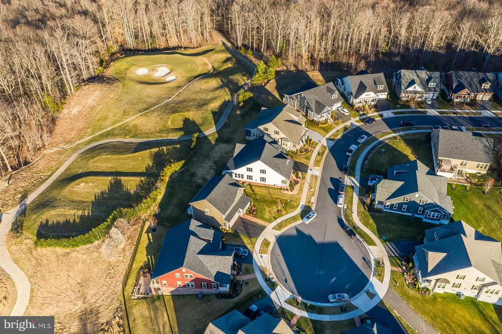 Areal view of street and 15th hole - 17013 SILVER ARROW DR, DUMFRIES