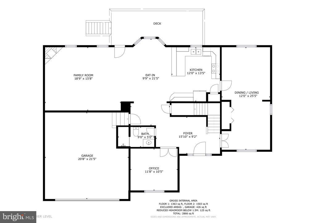 Main floor - 1121 WHITE OAK RD, FREDERICKSBURG