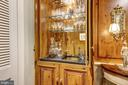Brass wet bar in dining room. - 1423 36TH ST NW, WASHINGTON