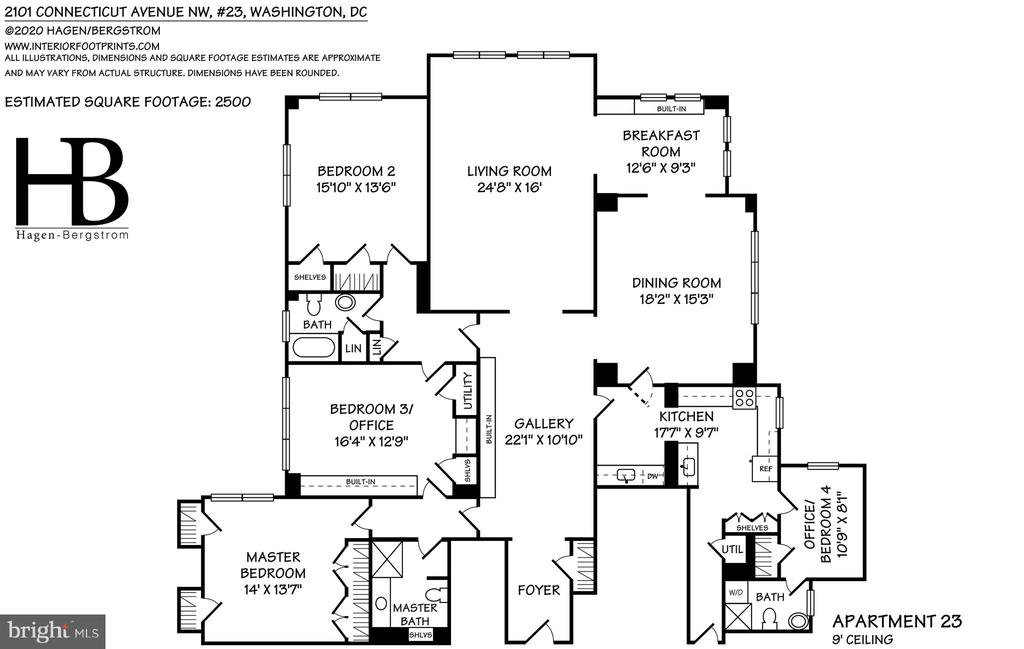 Floor plan - 2101 CONNECTICUT AVE NW #23, WASHINGTON