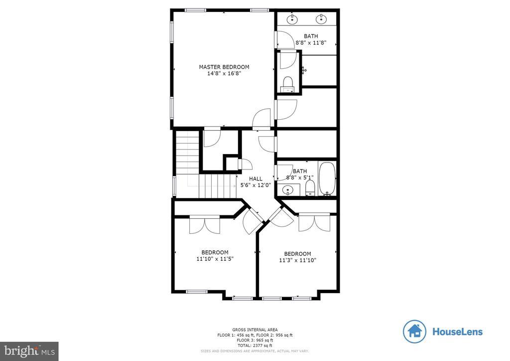 Floor Plan Upper Level - 10528 RATCLIFFE TRL, MANASSAS