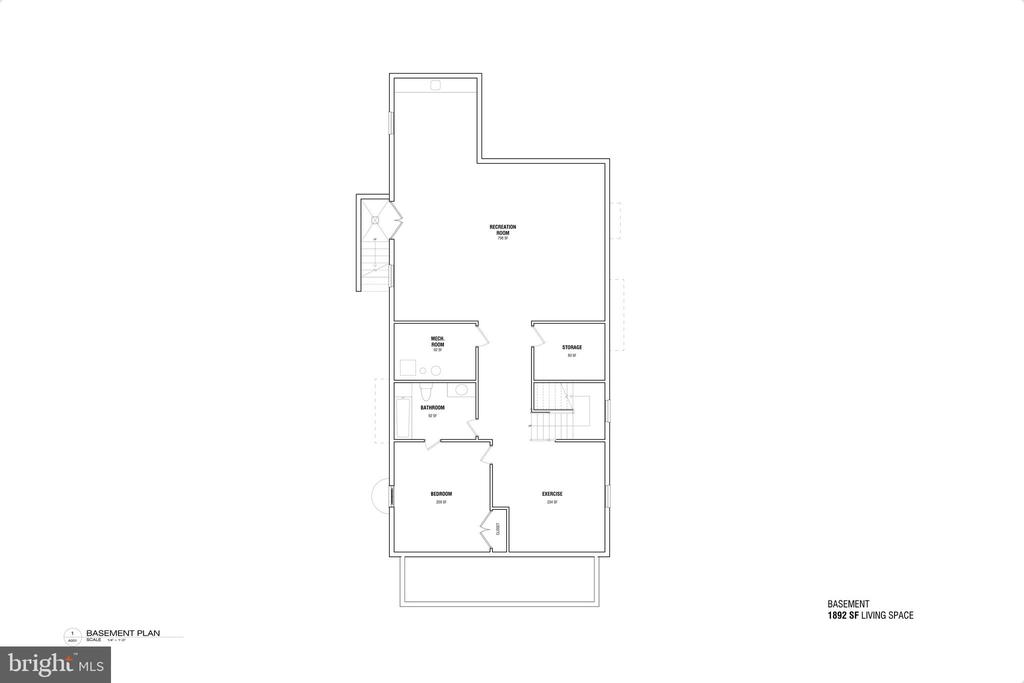 Basement Floorplan - 3713 LIVINGSTON ST NW, WASHINGTON