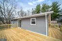 Back of House with New Siding & Deck - 2129 FLAG MARSH RD, MOUNT AIRY