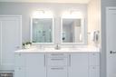 Double vanity with excellent storage - 505 ORONOCO ST, ALEXANDRIA