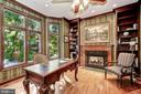 Library / Office with two-way Fireplace - 4055 40TH ST N, ARLINGTON