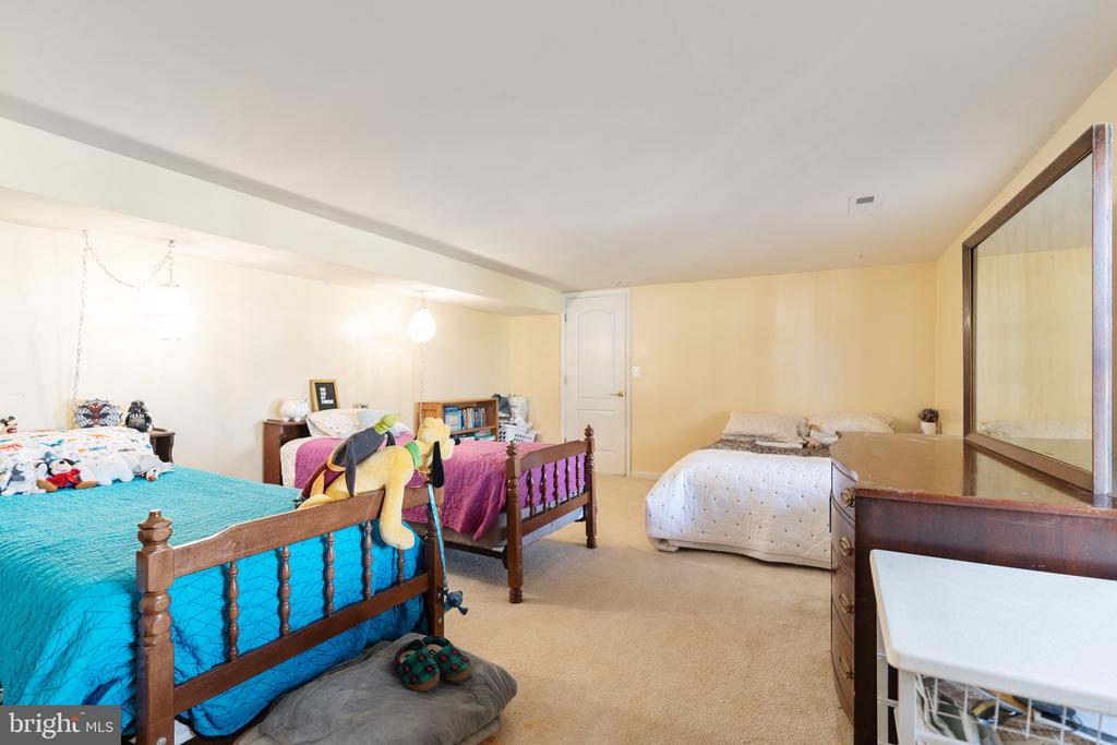 Lower level rm w/full windows & closets used as BR - 260 SPOTTED TAVERN RD, FREDERICKSBURG