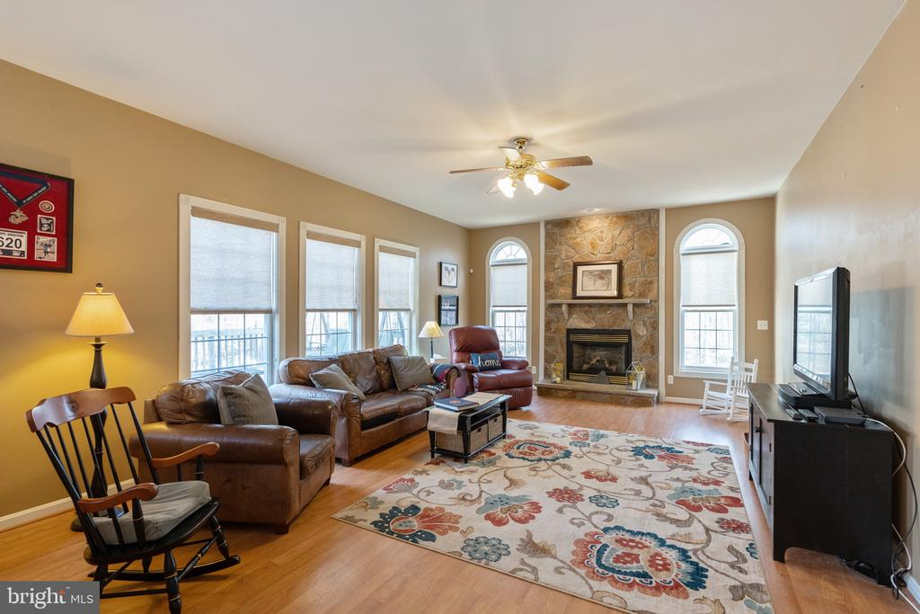 Love all the windows in the family room! - 260 SPOTTED TAVERN RD, FREDERICKSBURG