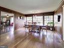 Dining Room with Wall of Windows and Sliding Glass - 7800 PERSIMMON TREE LN, BETHESDA