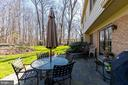 Patio view. - 11905 VIEWCREST TER, SILVER SPRING