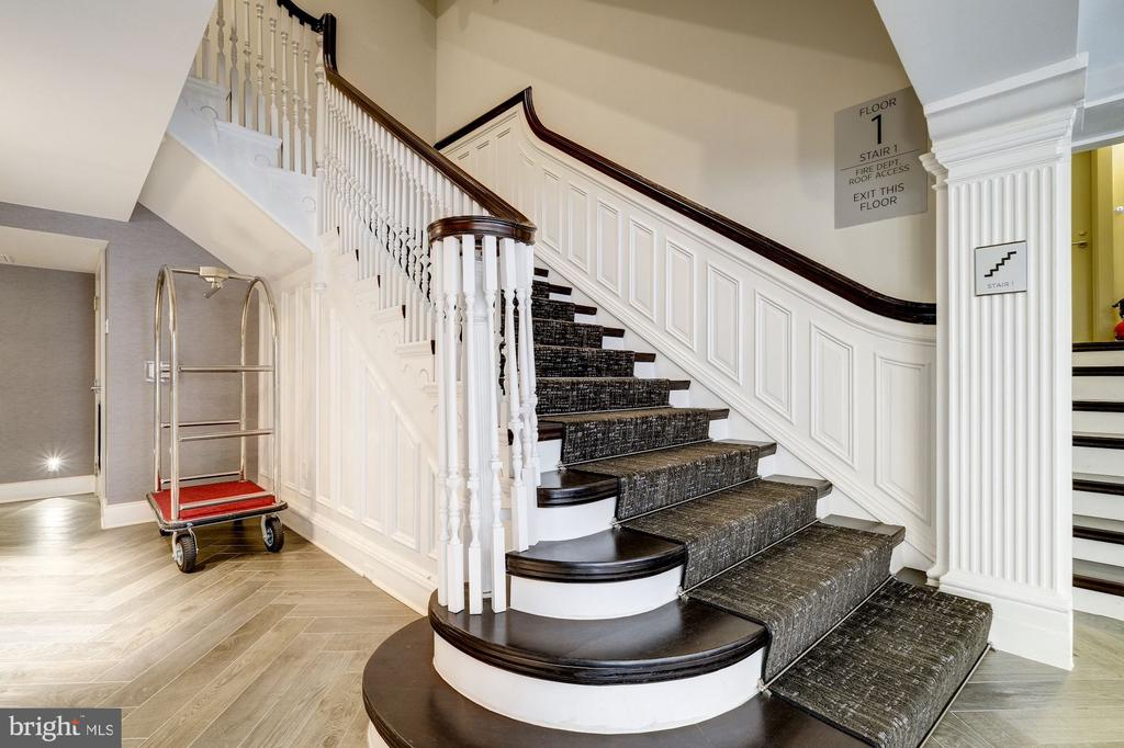 Take the grand stairwell or the elevator - 1745 N ST NW #213, WASHINGTON
