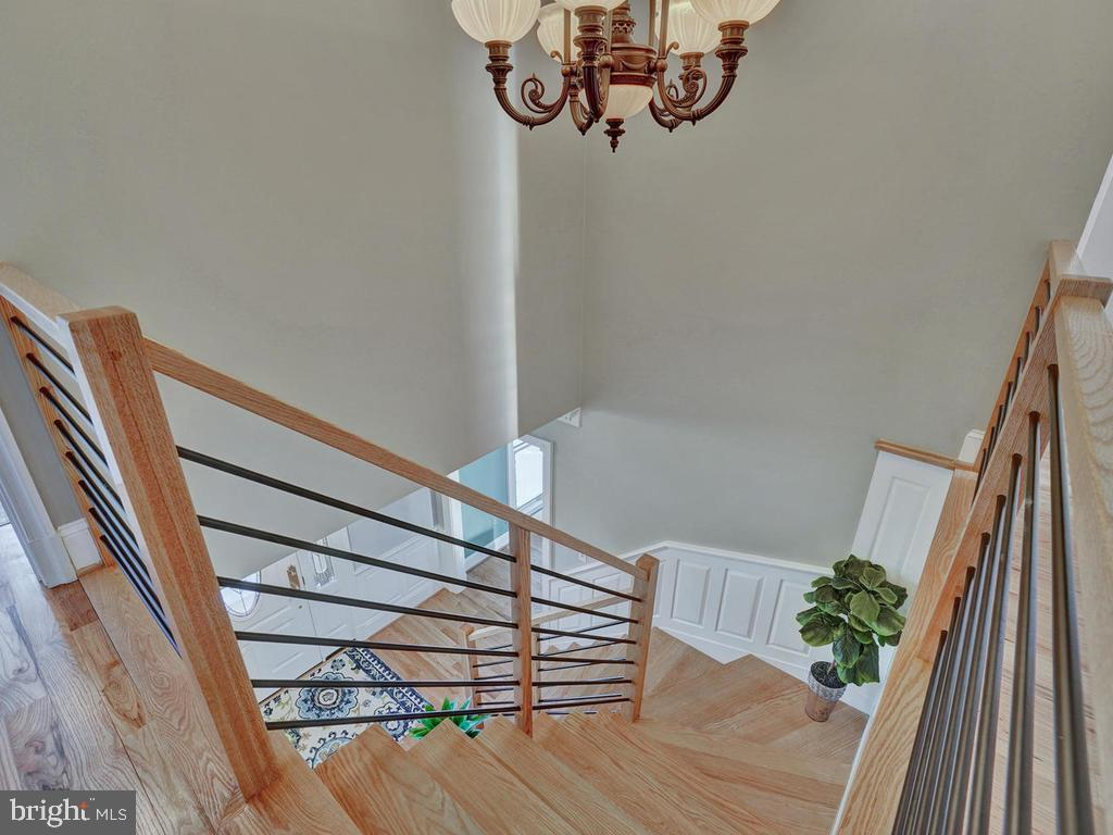 Take the beautiful hard wood stairs to 2nd level - 1012 MERCER PL, FREDERICK