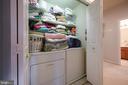 Laundry closet on bedroom level - 34 WADDINGTON CT, ROCKVILLE