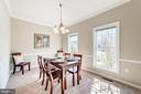 Dining room with incredible natural light - 7102 BYRNELEY LN, ANNANDALE
