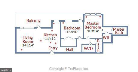 Floorplan - 1121 ARLINGTON BLVD #1005, ROSSLYN
