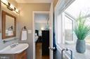 Master bath has a beautiful garden window - 10822 CHARLES DR, FAIRFAX