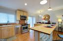 Kitchen island is so big and functional - 10822 CHARLES DR, FAIRFAX
