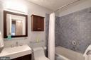 Hall full bath upstairs has lovely tiles - 10822 CHARLES DR, FAIRFAX