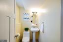 Half bath in lower level is wonderful to have - 10822 CHARLES DR, FAIRFAX