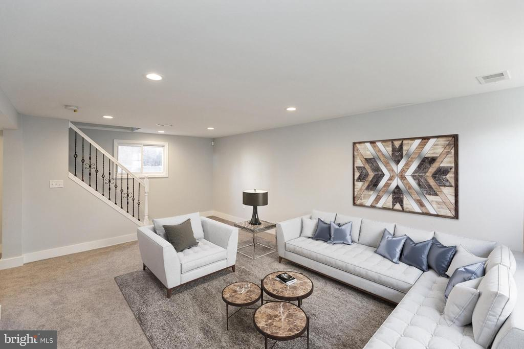 Your inviting basement family room. - 6420 13TH ST NW, WASHINGTON