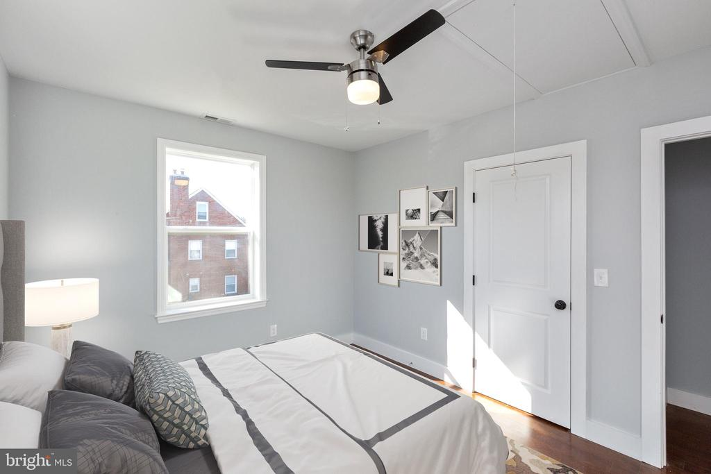 Your bedroom cooled by  a/c  and/or ceiling fan. - 6420 13TH ST NW, WASHINGTON
