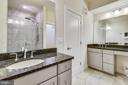 Gorgeous Master Bath with Granite Vanity Tops - 20495 MILBRIDGE TER, ASHBURN