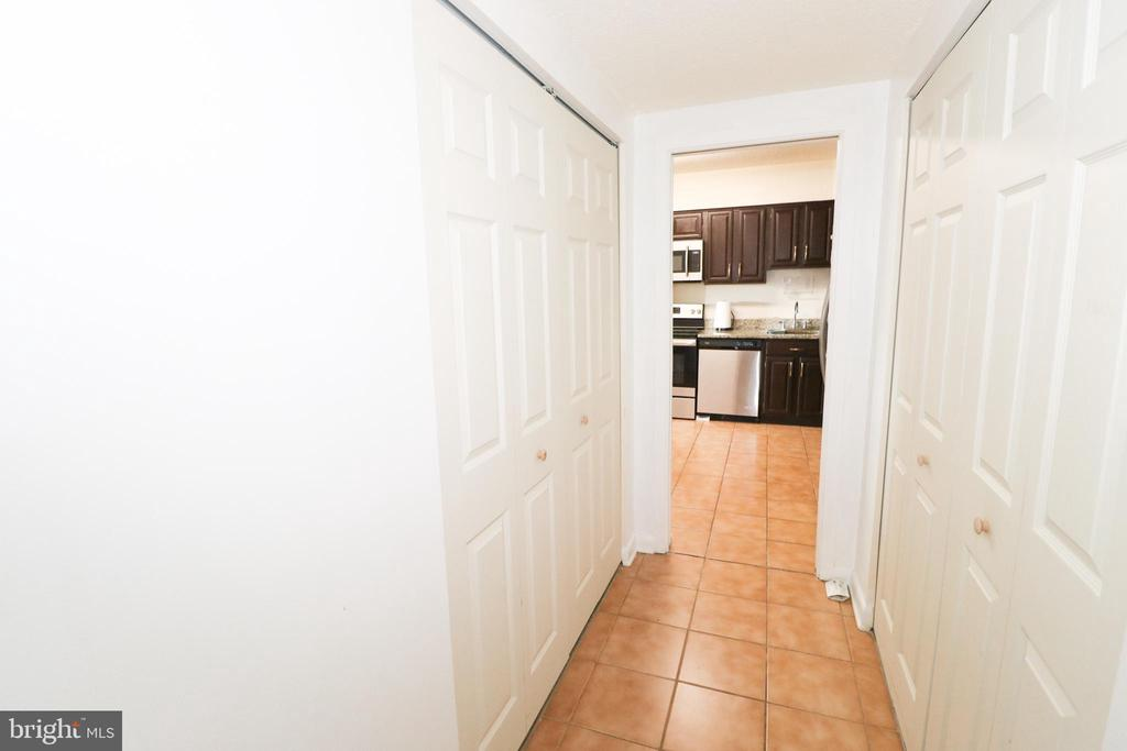Hallway to bedroom/kitchen - 3709 S GEORGE MASON DR #210, FALLS CHURCH
