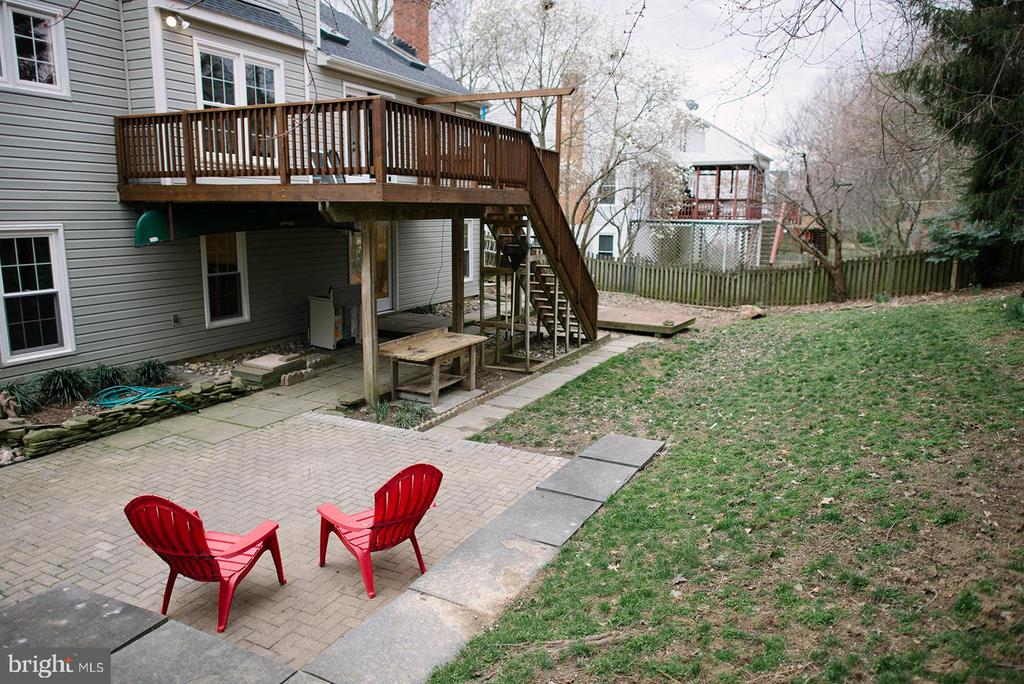 Large Back Yard - 17281 PICKWICK DR, PURCELLVILLE