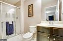 Lower level full bath - 75 COLEMANS MILL DR, FREDERICKSBURG
