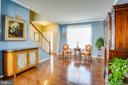 Gleaming hardwood floors on main level - 75 COLEMANS MILL DR, FREDERICKSBURG
