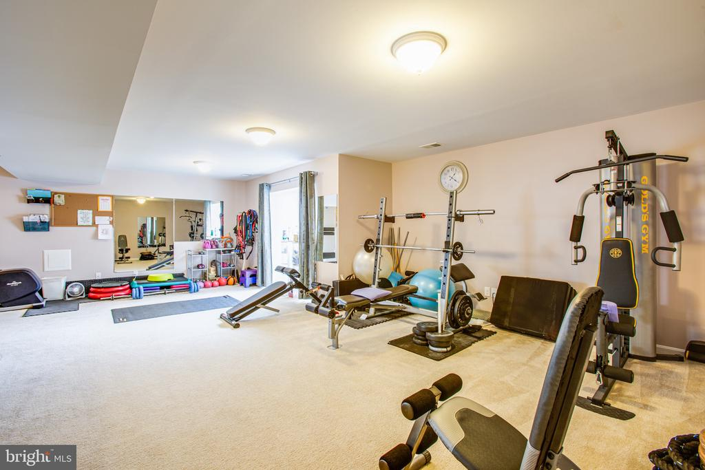Flexible living space for gym or TV - 75 COLEMANS MILL DR, FREDERICKSBURG