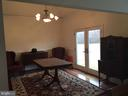 Dinning room vaulted ceiling, french doors - 12090 MOUNTAIN WATCH CT, LOVETTSVILLE
