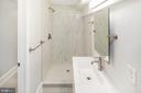 Full Sized Bathroom in the basement - 2509 N CAPITOL ST NE, WASHINGTON