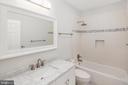 Top floor shared bathroom - 2509 N CAPITOL ST NE, WASHINGTON