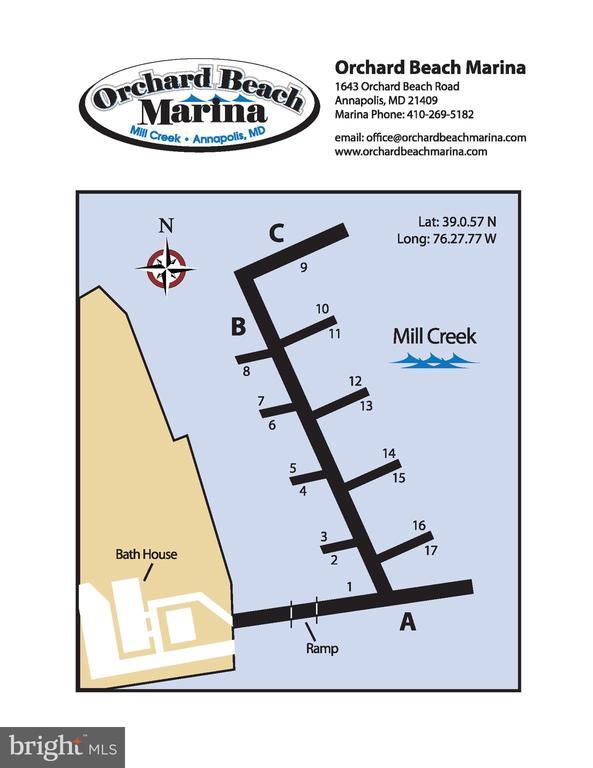 Slip layout - 1643 ORCHARD BEACH RD, ANNAPOLIS