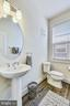 Main Level Powder Room with Pedestal Sink - 20495 MILBRIDGE TER, ASHBURN