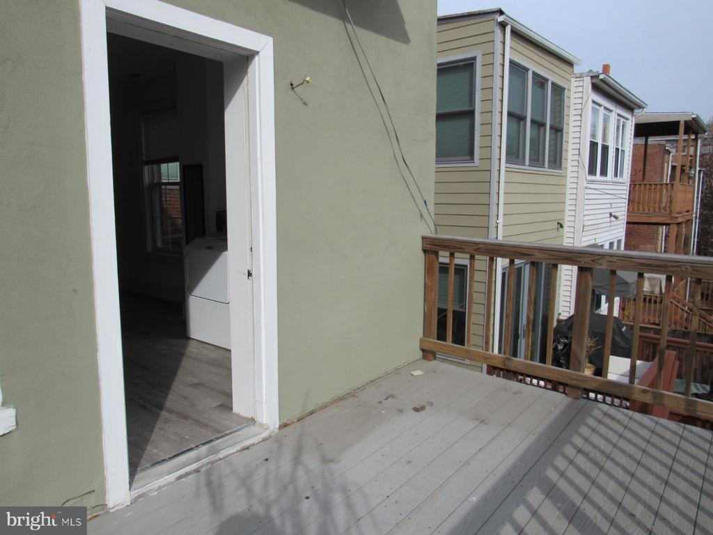 Top unit deck - 1803 2ND ST NW, WASHINGTON