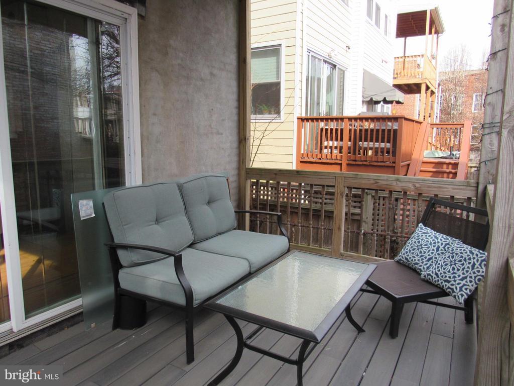 Main level unit deck - 1803 2ND ST NW, WASHINGTON